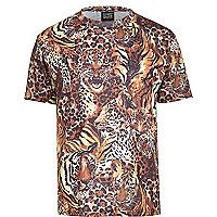 Yellow New Love Club safari print t-shirt