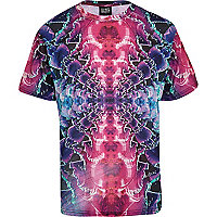 Pink New Love Club rave print t-shirt