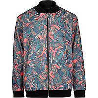 Red New Love Club paisley bomber jacket