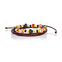 Red woven and beaded bracelet pack