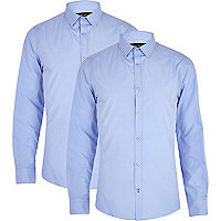 Light blue long sleeve shirt pack