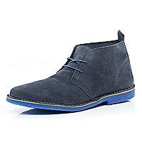 Navy suede Jack & Jones Premium desert boots