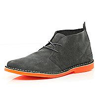Grey suede Jack & Jones Premium desert boots