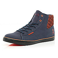 Navy denim Jack & Jones high tops