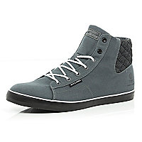 Grey canvas Jack & Jones high tops