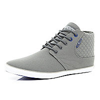 Grey Jack & Jones canvas high tops