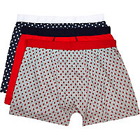 Mixed polka dot boxer shorts pack