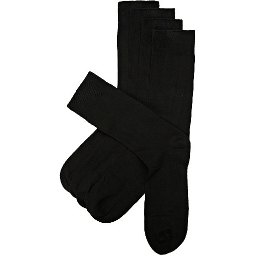 Black cotton socks pack