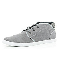 Grey chambray high tops