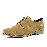 Light brown suede lace up shoes