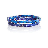 Blue splat print bracelet pack