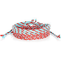 Red and blue woven bracelets pack