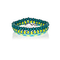 Teal beaded bracelet pack