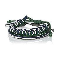 Green woven bracelets pack