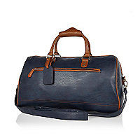 Navy contrast trim holdall