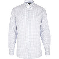 White dogtooth long sleeve shirt