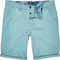 Light blue chino shorts