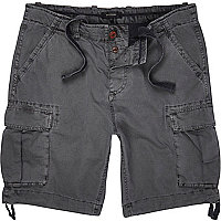Dark grey cargo shorts