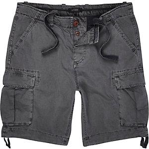 Dark grey cargo shorts