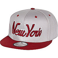 Grey New York trucker hat