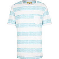 Ecru textured stripe t-shirt