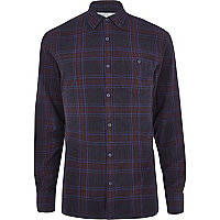 Purple overdye check shirt
