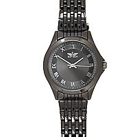 Gunmetal tone bracelet watch