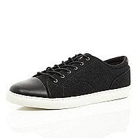 Black contrast toe cap trainers