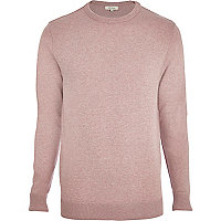 Light pink crew neck jumper