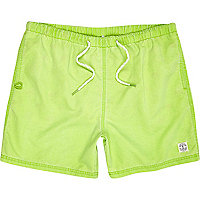 Lime short swim shorts