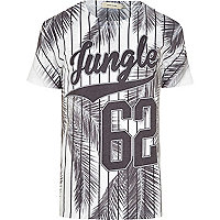 White jungle 62 stripe print t-shirt