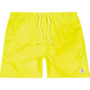Fluro yellow short swim shorts