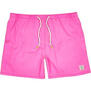 Fluro pink short swim shorts
