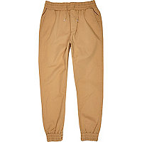 Tan jogger trousers
