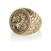 Gold tone Horse sovereign ring