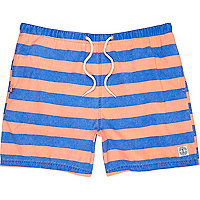 Orange and blue stripe swim shorts