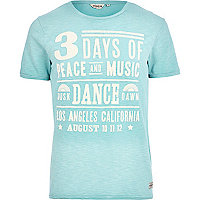 Light blue Jack & Jones Vintage dance t-shirt