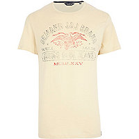 Ecru Jack & Jones Vintage Eagle t-shirt