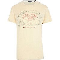 Ecru Jack & Jones Vintage Eagle t-shirt