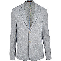 Light blue neppy jersey blazer