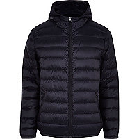 Navy blue padded casual jacket