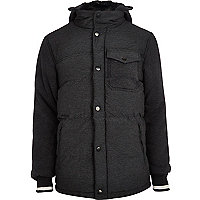 Dark grey padded jacket