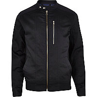 Dark navy casual bomber jacket