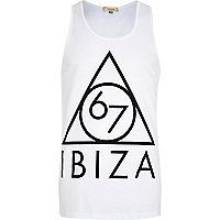 White Ibiza 67 print vest