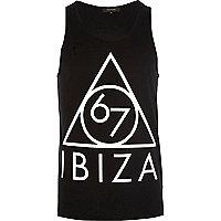 Black Ibiza 67 print vest