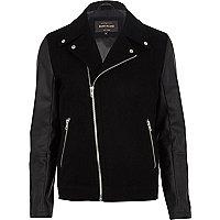 Black smart biker jacket