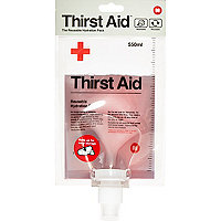 White Thirst Aid drinking bottle