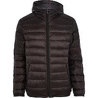 Black padded casual jacket