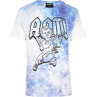 Blue Anticulture acid wash cherub t-shirt