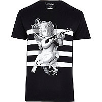 Black Anticulture cherub stripe t-shirt